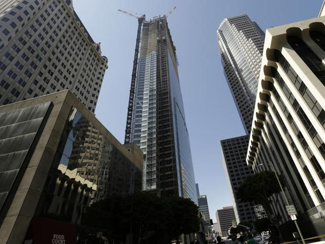 Los Angeles skyscraper,Construction worker,Contruction accident