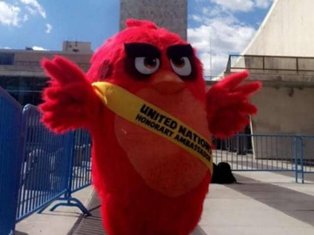 """The U.N. chief told a launch event attended by hundreds of young people in the General Assembly hall that """"the Angry Birds have entertained millions of people around the world — and now they are part of making the world a better place."""""""