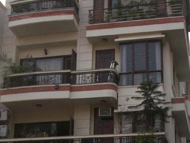 Front Design Of House In Delhi Part - 49: An Apartment Block In South Delhi Stands Vacant.