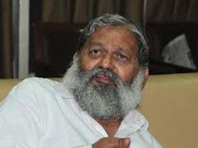 Haryana minister Anil Vij