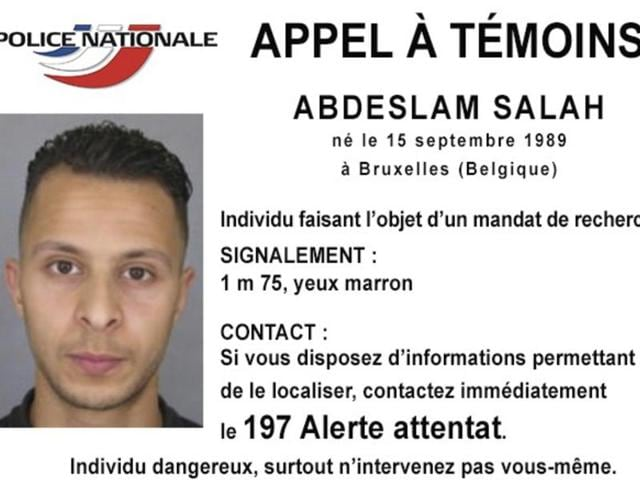 This undated file photo released by French police shows 26-year-old Salah Abdeslam, wanted in connection with the terror attacks in Paris, who was arrested in Brussels after four months on the run. (AP)