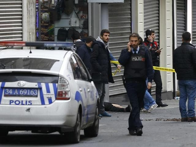 Suicide attack in Istanbul,Turkey