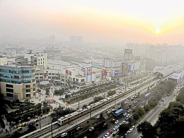 The Delhi Metro is crowded to the extent that people prefer to use private vehicles despite the frequent snarls.