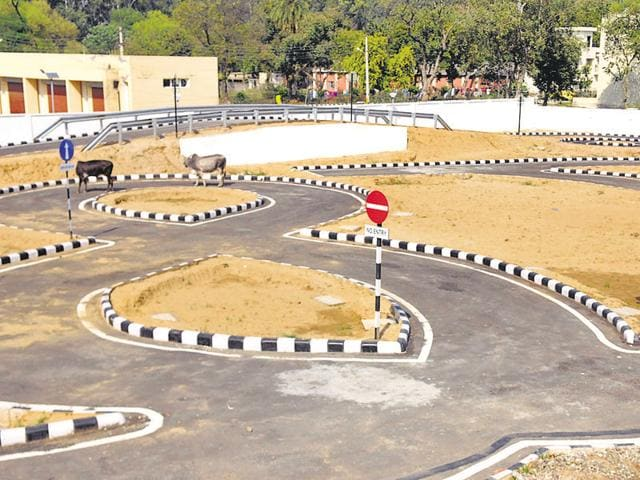 The newly built modern facility of driving test centre on the Nabha road in Patiala.