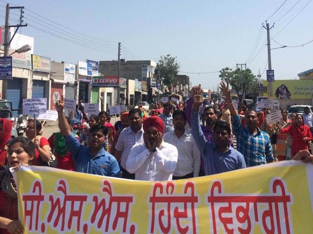 As many as 512 Hindi Centrally Sponsored Scheme (CSS) Teachers' Union has been on protest since March 12 and has been demanding the regularisation of their jobs.