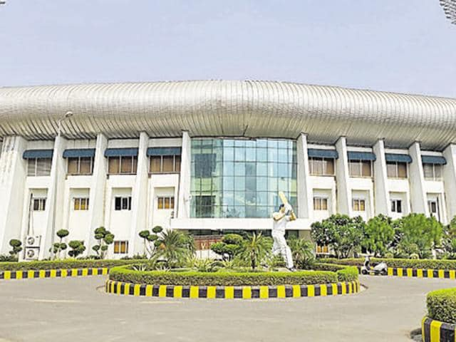 The stadium is spread over an area of 39 acres and is located next to Jaypee Resort.