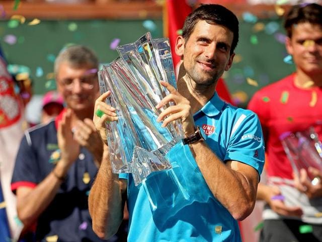 Novak Djokovic defeated Milos Raonic to claim a record 5th title at Indian Wells.