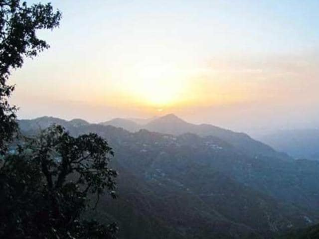 A view of the sunset from Lal Tibba near Mussoorie.