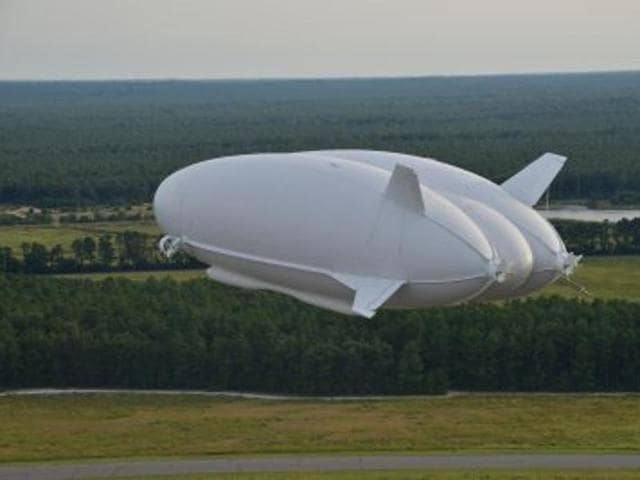 A promotional picture of the Airlander 10, the world's new longest aircraft.