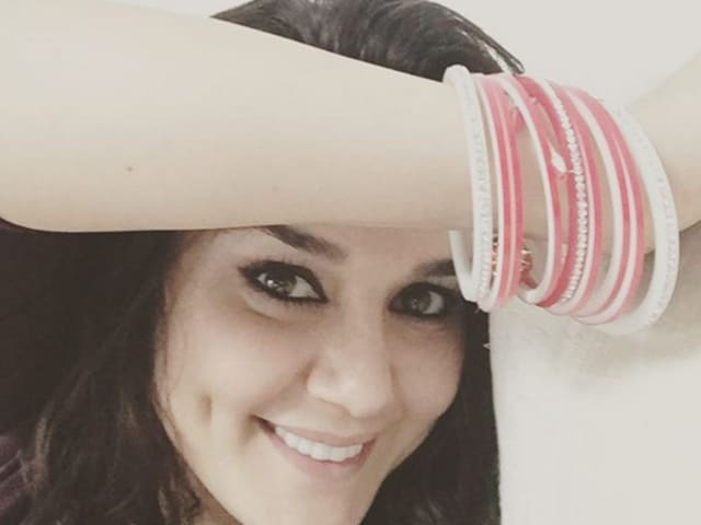 Preity Zinta flashes her wedding choora in a selfie. She posted other pictures as well.