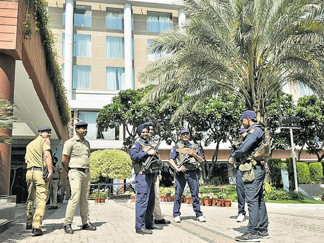 Presence of the Pakistani cricket team in the city,  which is set to face New Zealand for their next T20 match at PCA stadium on Tuesday, is resulting in mounting pressure on the local cops to ensure security.