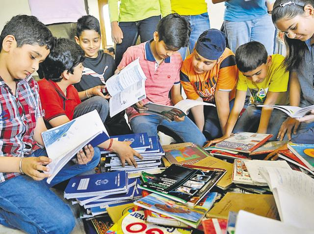 Ryan International School, Sector 49, has adopted two villages, where it donates old textbooks.