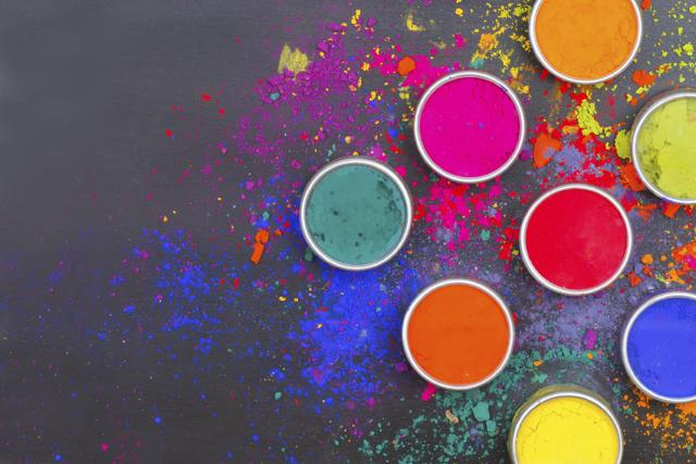 Indian Holi festival colours with text space(Istock)