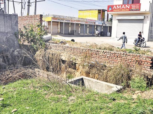 A sewage treatment plant in poor condition in Basant City, Ludhiana, on Sunday.