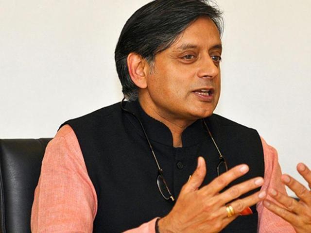 Congress leader Shashi Tharoor.
