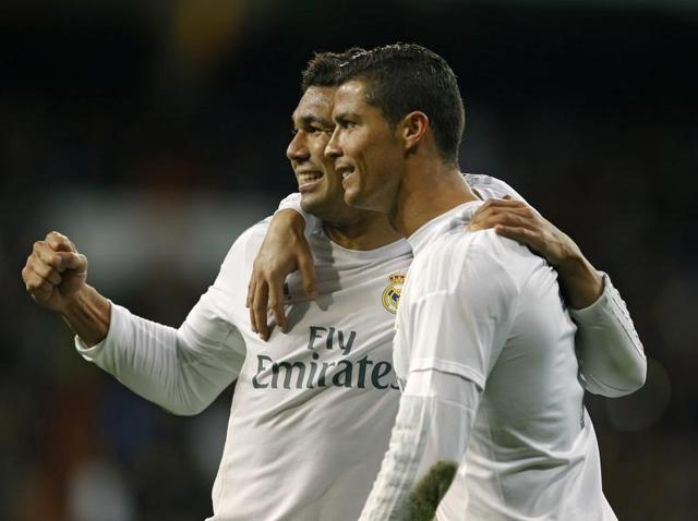Ronaldo made up for a missed penalty with a strike from close range.