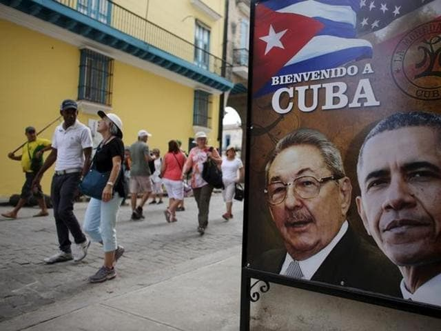 US President Barack Obama became the first US president in 88 years to visit Cuba.