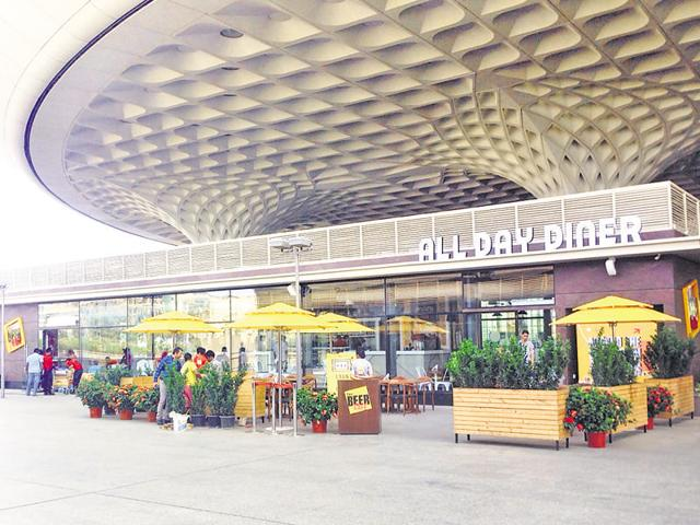 The upcoming food court coming up outside T2 would be open to everyone, said airport officials.