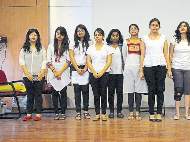 Volunteers from Gargi College who have signed up for the Initiative for Mental Health Awareness India.