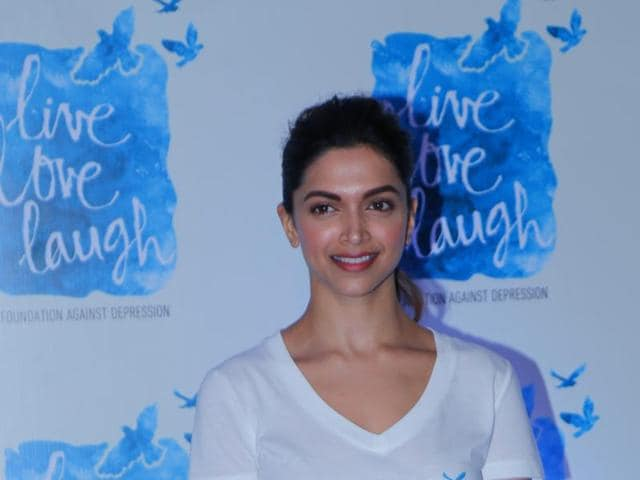 Deepika Padukone at the launch of the programme 'You Are Not Alone.'