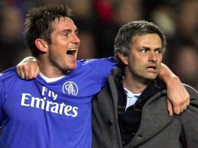 A file photo of Frank Lampard and Jose Mourinho.
