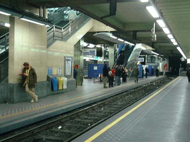 Brussels Metro station