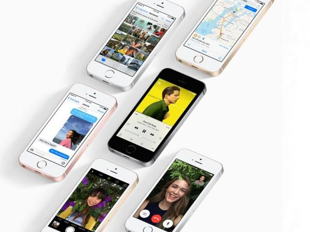 The new compact iPhone with a 4-inch screen is twice as powerful to the predecessor -- iPhone 5s -- and comes loaded with the latest 12 MP iSight camera.