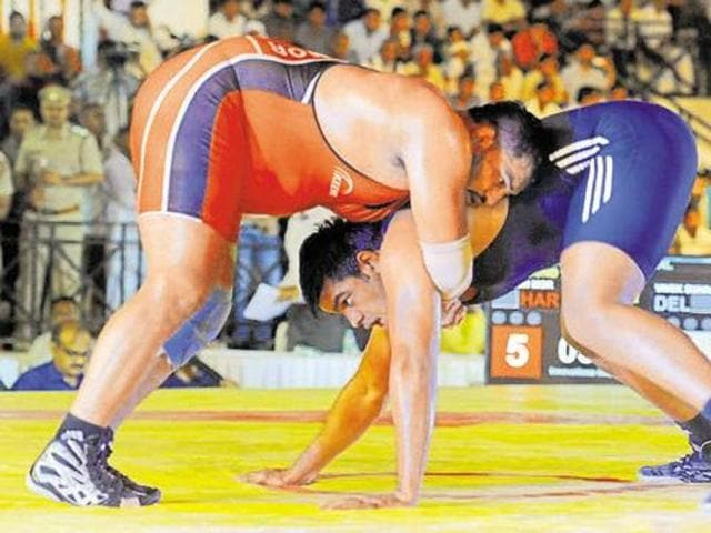 The wrestler bagging the fourth position will get Rs 10 lakh, the fifth position holder will get Rs.5 lakh, sixth position holder will get Rs.3 Lakh, seventh position holder will get Rs.2 lakh and the eighth position holder will get Rs.1 lakh. Wrestlers weighing 80 kilograms or more and above 17 years of age are participating