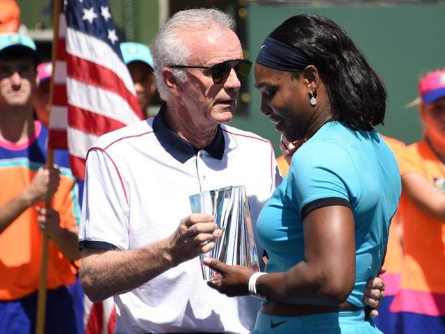 Raymond Moore's decision to make an appearance at the post-match presentation ceremony of the men's and women's finals despite his controversial comments invited further criticism.