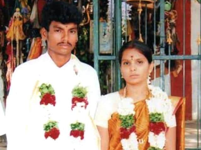 Three persons had attacked Kausalya and her 22-year-old husband Shankar with sickles in full public view near a bus stand in Udumalpet
