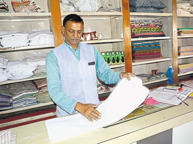 Office bearers from Shri Gandhi Ashram at Hapur said they sold nearly 1.5 lakh sets of 'kurta-pajama', white and multi-coloured, in the week before Holi, which is less than the previous year.