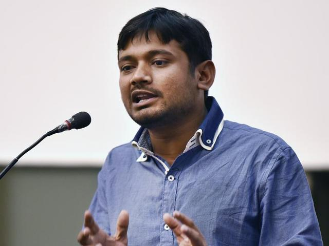 Kanhaiya Kumar was booked and arrested on a charge of involvement in anti-national sloganeering on the JNU campus on February 9.
