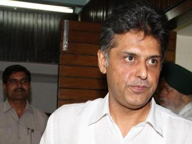 Senior Congress leader and former Union minister Manish Tewari. (HT Photo)