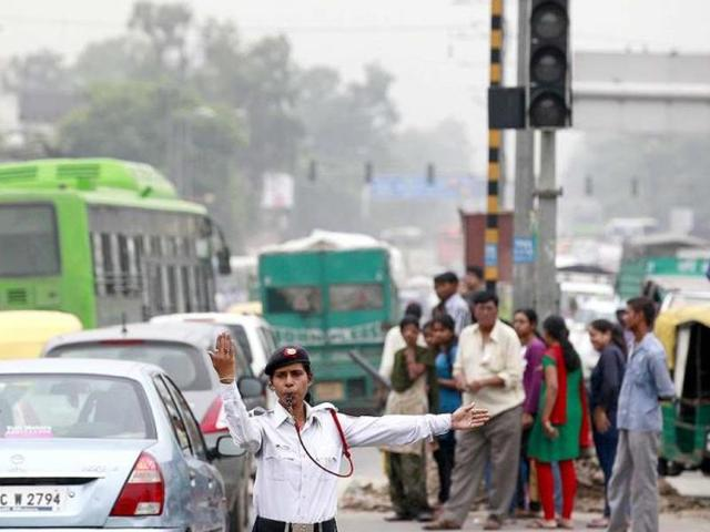 The traffic police say the special drive -- ordered by the Supreme Court -- has made the Capital's road safer as violations have dropped by 30% in the last two months. Seized licences are suspended for at least three months. The drive is still on.. (Raj K Raj/ HT Photo)