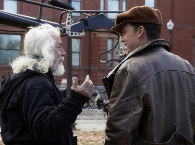 Ben Affleck with cinematographer Robert Richardson on the sets of Live by Night.