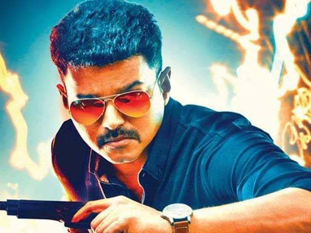 Theri stars Vijay, Samantha Ruth Prabhu and Amy Jackson.