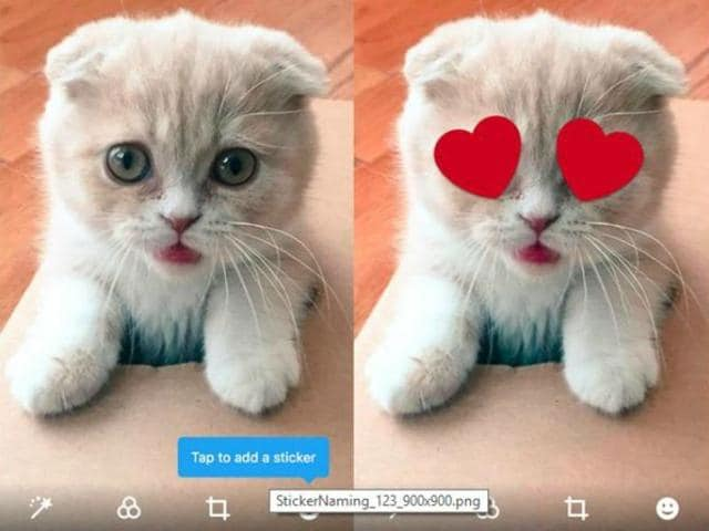 Twitter is reportedly working on a new feature with a  handful of users that allows adding stickers to photos before uploading.