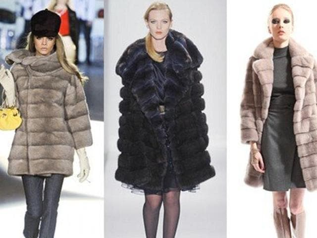 Those Armani real fur coats, they are out.