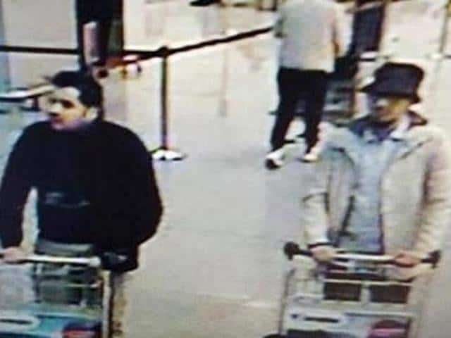 Najim Laachraoui is believed to be the man wearing a cap in the picture of three suspects released by Belgian authorities on Tuesday.