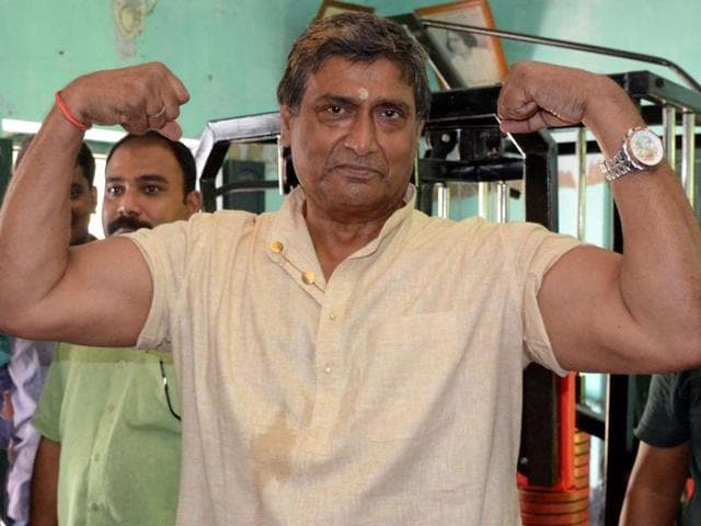 With 20-inch biceps and a 58-inch chest resting on a 6-foot1-inch frame, Tushar Sil is easily the biggest muscleman in this poll season and he is seeking votes as the Trinamool candidate from Amta in Howrah district.