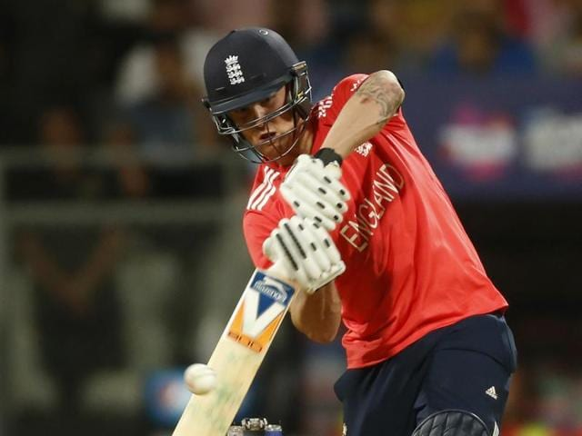 The England batting collapsed, going from 41/1 to 42/4 in one over.