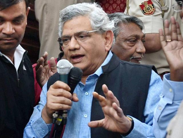 Sitaram Yechury demanded the release of students and faculty members of HCU, arrested for attacking VC Appa Rao's residence.