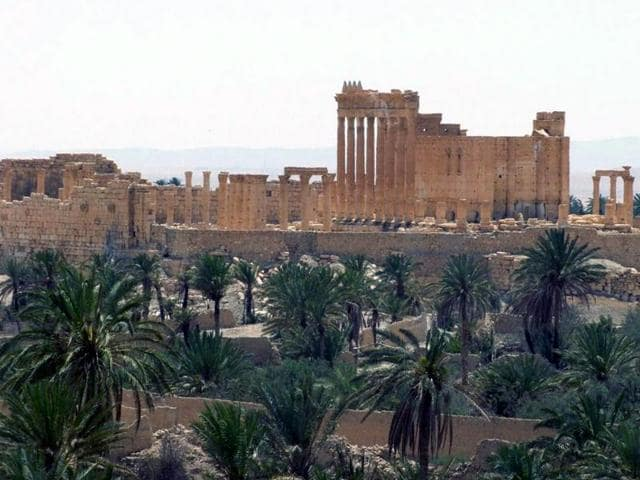 This file photo released on Sunday, May 17, 2015, by the Syrian official news agency SANA, shows the general view of the ancient Roman city of Palmyra.