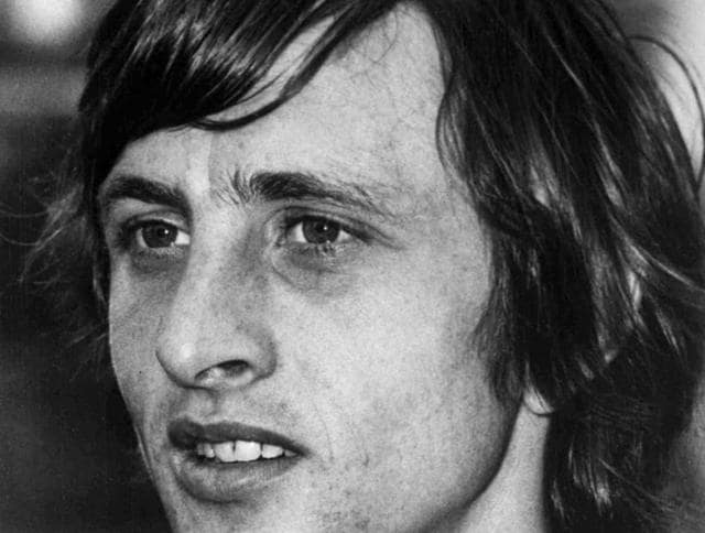 This is a Nov 13, 1972 file photo of Dutch soccer player Johan Cruyff in Amsterdam, Netherlands.