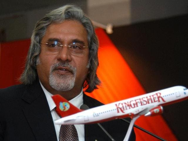 Former Kingfisher Airlines Chairman Kingfisher Vijay Mallya speaks at an event during Civil Aviation Week.