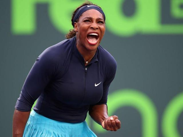 Serena Williams got her bid for a ninth Miami Open title off to a winning start with a tough three-set win over compatriot Christina McHale.