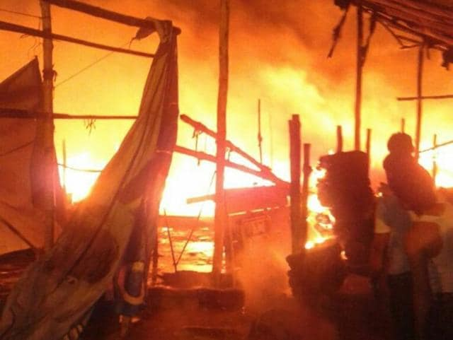 Over 100 shops at the market were gutted in the fire at Parade Market, which began around 4 am.