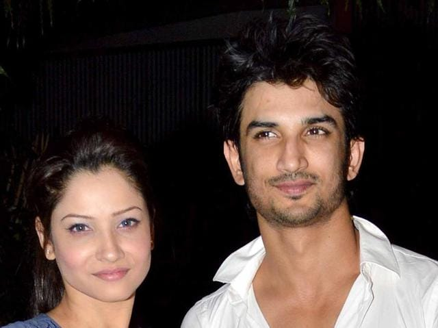 Ankita Lokhande and Sushant Singh Rajput  at the Kai Po Che success party.