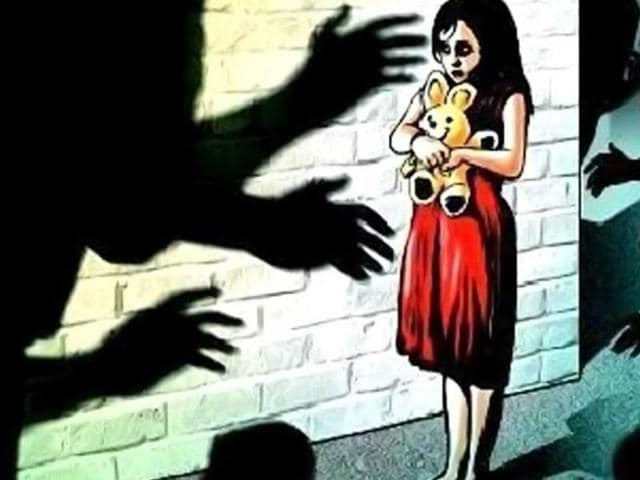 A four-year-old girl was raped by the landlord of her house on the pretext of giving her chocolates.