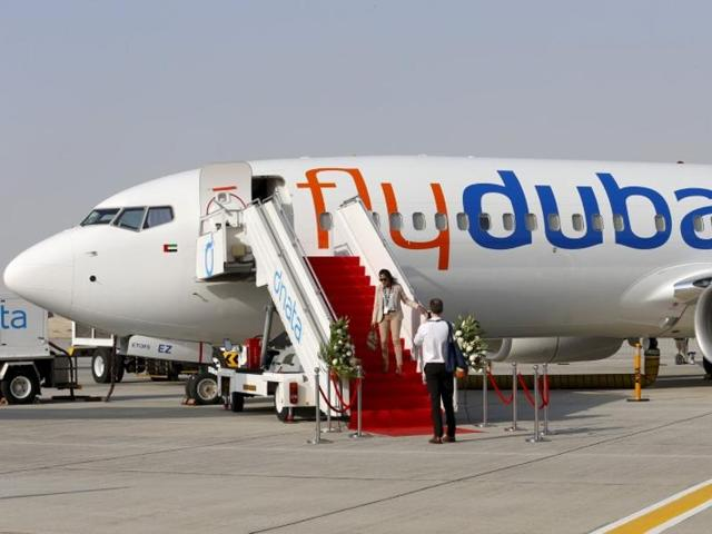 Emergencies Ministry members work at the crash site of the Boeing 737-800 Flight FZ981 operated by Dubai-based budget carrier Flydubai, at the airport of Rostov-On-Don, Russia.